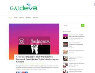 gajdeva.com screenshot