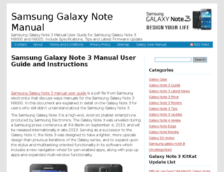 galaxynote3manual.com screenshot