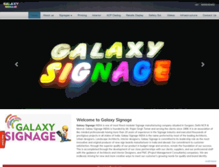 galaxysignage.com screenshot