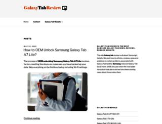 galaxytabreview.com screenshot