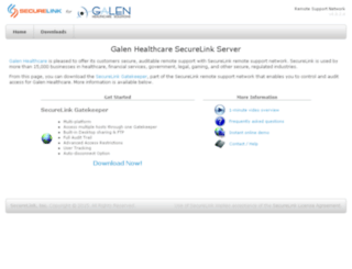 galen.securelink.com screenshot