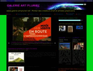 galerie-art-pluriel.net screenshot