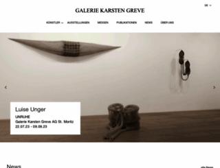 galerie-karsten-greve.com screenshot