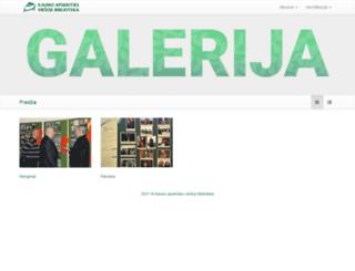 galerija.kvb.lt screenshot