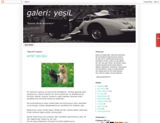 galeriyesil.blogspot.com screenshot