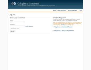 gallaghercharitableapp.ajg.com screenshot