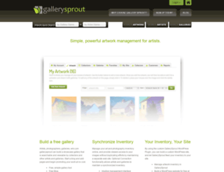 gallerysprout.com screenshot