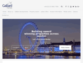 galliard-homes.co.uk screenshot