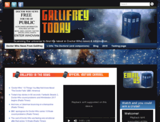 gallifreytoday.com screenshot