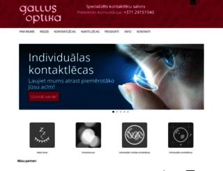 gallusoptika.anazana.com screenshot