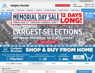 galpinhonda.com screenshot