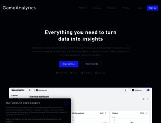 gameanalytics.com screenshot