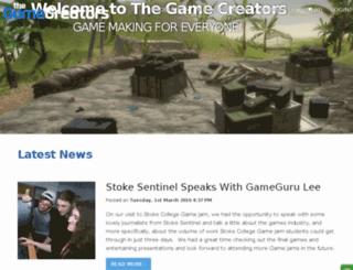 gamecreatoronline.thegamecreators.com screenshot