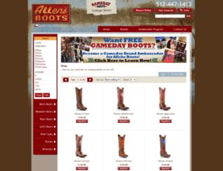 gameday.allensboots.com screenshot