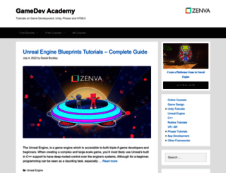 gamedevacademy.org screenshot