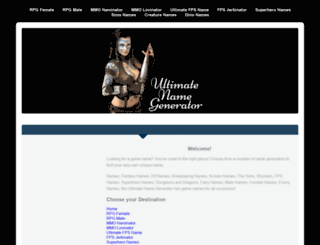 gamenaminator.com screenshot