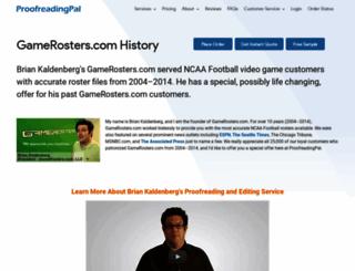 gamerosters.com screenshot