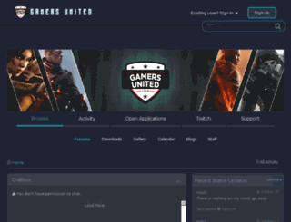 gamersunited.co.uk screenshot