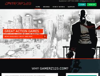 gamerz123.com screenshot