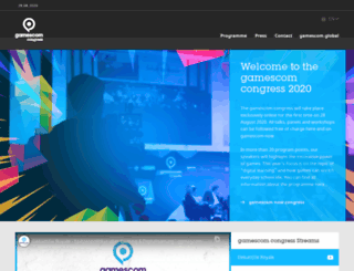 gamescom-congress.com screenshot