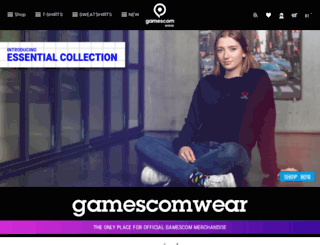 gamescomwear.com screenshot