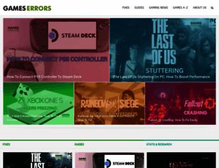 gameserrors.com screenshot