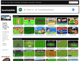 gamesfootball.net screenshot