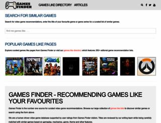 gameslikefinder.com screenshot