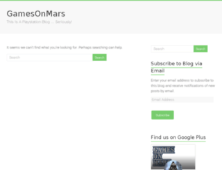gamesonmars.com screenshot