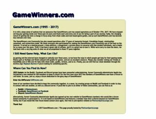 gamewinners.com screenshot