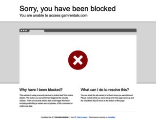 gamrentals.com screenshot