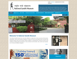 gandhimuseum.org screenshot