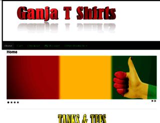 ganjatshirts.com screenshot