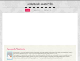ganymedewardrobe.in screenshot