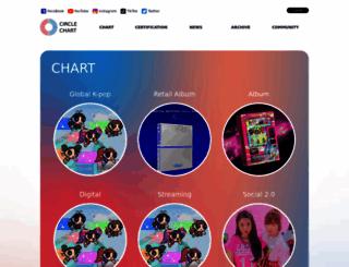 gaonchart.co.kr screenshot