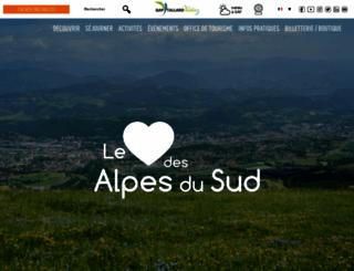 gap-tourisme.fr screenshot