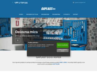 gaplast.si screenshot
