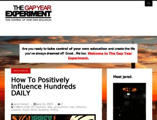 gapyearexperiment.com screenshot