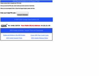 garagedatasystems.co.uk screenshot