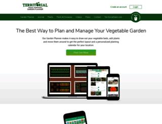gardenplanner.territorialseed.com screenshot