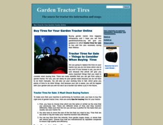 gardentractortires.org screenshot
