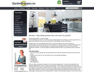 gardinshoppen.no screenshot