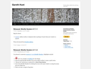 garethhunt.com screenshot