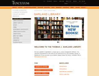 garland.tusculum.edu screenshot