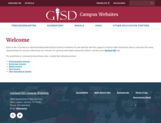 garlandisdschools.net screenshot