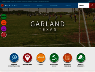 garlandtx.gov screenshot