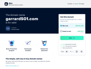 garrard501.com screenshot