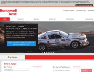 garrettbyhoneywell.com screenshot