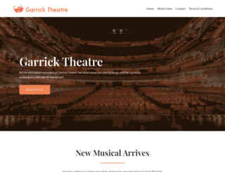 garrick-theatre.co.uk screenshot
