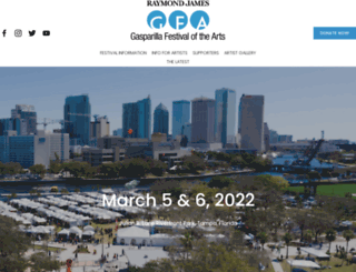 gasparillaarts.com screenshot